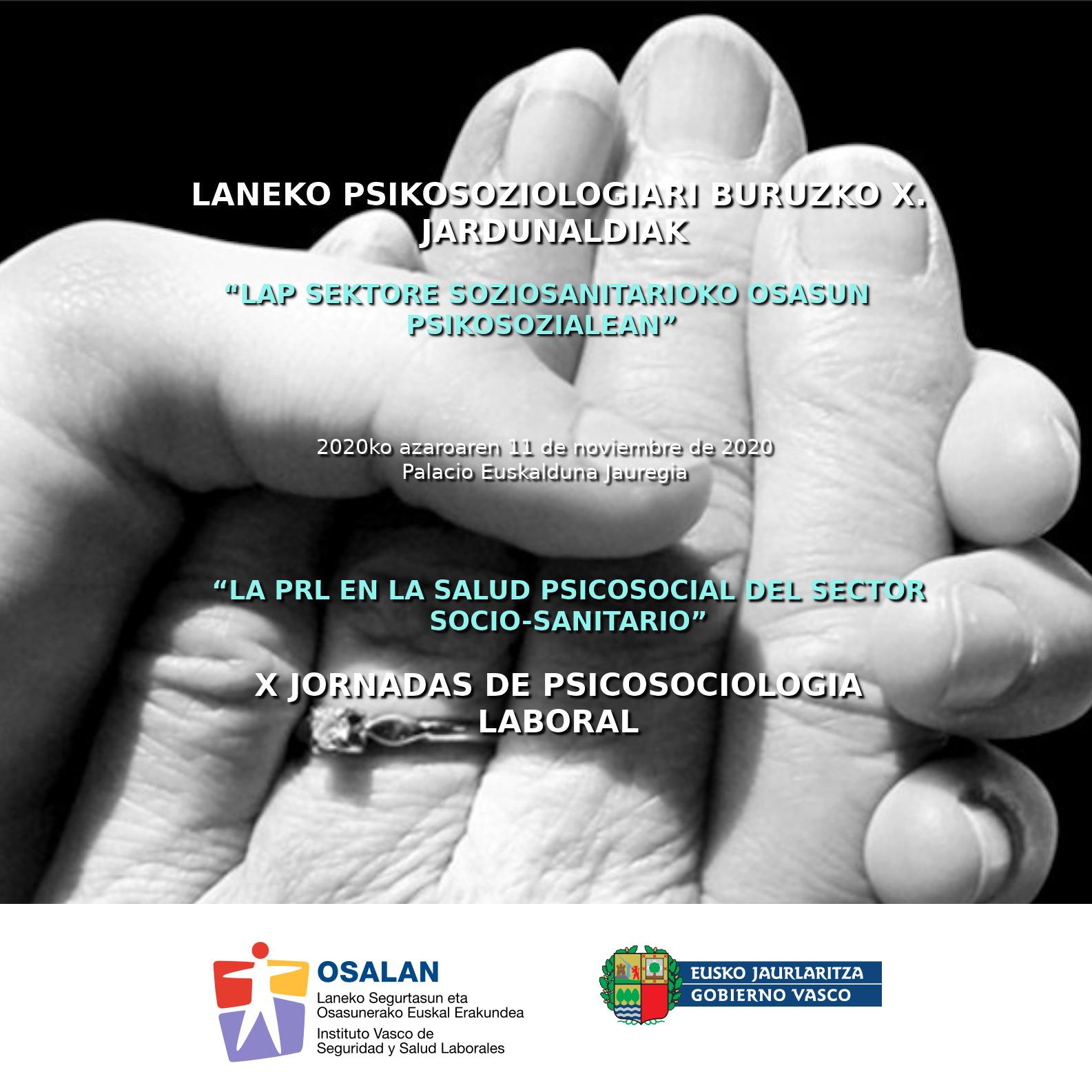 'LAP sektore soziosanitarioko osasun psikosozialean'  /  'La PRL en la salud psicosocial del sector socio-sanitario'